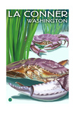 Dungeness Crabs - La Connor, WA Prints by  Lantern Press