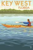 Key West, Florida - Kayaker Prints by  Lantern Press