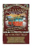 Alexandria, Virginia - Trolley Vintage Sign Posters