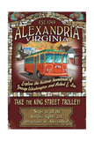 Alexandria, Virginia - Trolley Vintage Sign Posters by  Lantern Press
