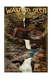 Watkins Glen State Park, New York - Minnehaha Falls Posters by  Lantern Press