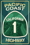 Highway 1, California - Pacific Coast Highway Sign Prints by  Lantern Press
