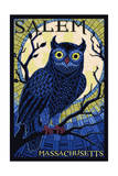 Salem, Massachusetts - Owl Mosaic Posters