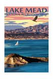 Lake Mead - National Recreation Area - Lake View Prints by  Lantern Press