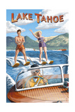 Lake Tahoe - Water Skiing Scene Art by  Lantern Press