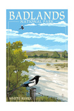 Badlands National Park, South Dakota - White River Posters by  Lantern Press