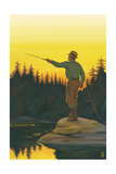 Fly Fishing Scene Posters by  Lantern Press