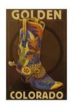 Golden, Colordao - Cowboy Boot Prints