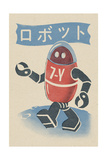 Robot - Woodblock Print Posters by  Lantern Press