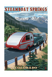 Steamboat Springs, Colorado - Retro Camper Prints by  Lantern Press