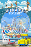 Wildwood, New Jersey - Montage Posters by  Lantern Press