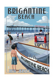 Brigantine Beach, New Jersey - Lifeguard Stand Posters by  Lantern Press