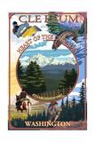 Cle Elum, Washington - Montage Prints by  Lantern Press