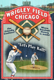 Chicago, Illinois - Wrigley Field Vintage Sign Art by  Lantern Press