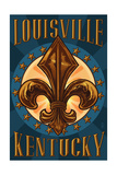 Louisville, Kentucky - Fleur de Lis Posters by  Lantern Press