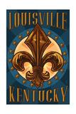 Louisville, Kentucky - Fleur de Lis Posters by  Lantern Press