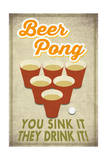 Beer Pong Prints by  Lantern Press