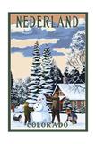 Nederland, Colorado - Snowman Scene Prints