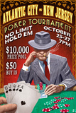 Atlantic City, New Jersey - Poker Tournament Vintage Sign Posters by  Lantern Press