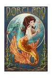 Portland - Mermaid Posters by  Lantern Press