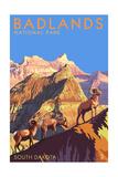 Badlands National Park, South Dakota - Bighorn Sheep Prints