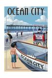 Ocean City, New Jersey - Lifeguard Stand Prints