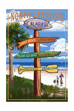 Calabash, North Carolina - Sign Destinations Prints by  Lantern Press