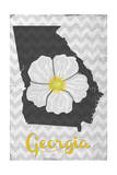 Georgia - State Flower - Cherokee Rose Posters by  Lantern Press