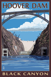 Hoover Dam - Black Canyon Poster by  Lantern Press