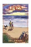 Lewes, Delaware - Beach and Sunset Posters by  Lantern Press