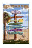 Mount Pleasant, South Carolina - Sign Destinations Print by  Lantern Press