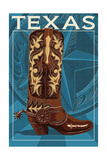 Texas - Boot Prints by  Lantern Press