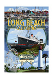 Long Beach, California - Montage 2 Posters by  Lantern Press