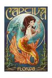 Captiva, Florida - Mermaid Prints by  Lantern Press