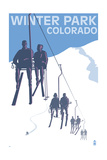 Winter Park, Colorado - Ski Lift Prints by  Lantern Press