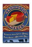 Washington - Cheese Vintage Sign Prints by  Lantern Press
