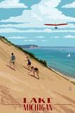 Michigan - Dunes Posters av  Lantern Press