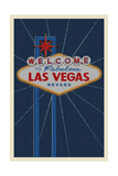 Welcome to Las Vegas Sign Prints by  Lantern Press