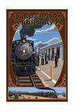 Grand Canyon Railway, Arizona - Williams Depot Poster by  Lantern Press