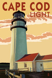 Cape Cod, Massachusetts - Cape Cod Lighthouse Prints by  Lantern Press
