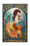Ocean Shores, Washington - Mermaid Posters by  Lantern Press