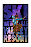 Waterville Valley Resort, NH - Milky Way Skier Posters by  Lantern Press