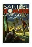 Sanibel, Florida - Zombie Apocalypse Art
