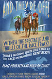 Kentucky - Horse Racing Vintage Sign Poster by  Lantern Press