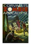 Corvallis, Oregon - Zombie Apocalypse Prints