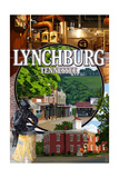 Lynchburg, Tennessee - Town Scenes Prints by  Lantern Press