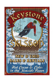 Keystone, Colorado - Ski Shop Vintage Sign Print by  Lantern Press