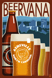 Asheville, North Carolina - Beervana Art by  Lantern Press