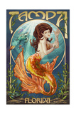 Tampa, Florida - Mermaid Prints by  Lantern Press