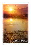 Padre Island National Seashore - Sunset Prints by  Lantern Press